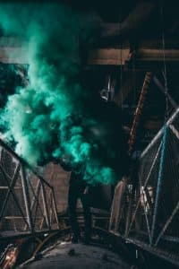 Mariages bombes fumigenes